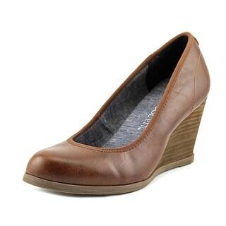 Dr. Scholl's Penelope Women  Open Toe Canvas Brown Wedge Heel