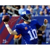 Eli Manning signed New York Giants 8x10 Photo 100th Career Win Steiner Hologram
