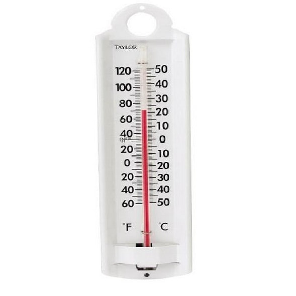 Taylor 5135N Indoor And Outdoor Thermometer, Aluminum