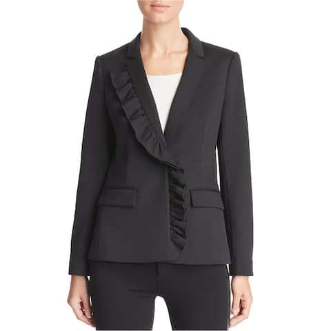 Le Gali Womens Kiara One Button Blazer Jacket, Black, X-Small
