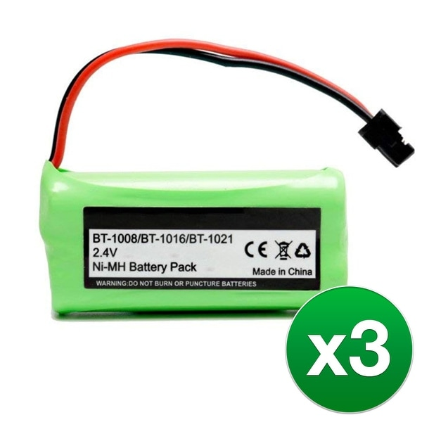 Replacement Battery For Uniden D3097 Cordless Phones - BT1008 (700mAh, 2.4V, Ni-MH) - 3 Pack