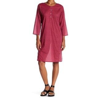 Velvet by Graham & Spencer Womens Small Print Shift Dress