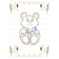 """Teddy Bear - Stamped Baby Quilt Top 36""""X50"""""""