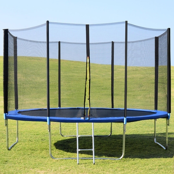 New 14ft Trampoline Combo Bounce Jump Safety Enclosure Net: Shop Gymax 14FT Trampoline Combo Bounce Jump Safety