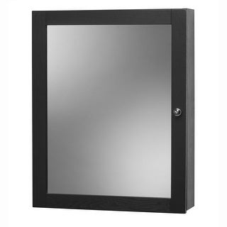 "Foremost CO1924 Columbia 19"" Mirrored Medicine Cabinet with 2 Shelves and Left Opening Door - N/A"