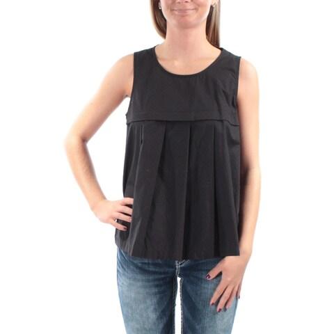 ANNE KLEIN Womens Black Sleeveless Jewel Neck Top Size: 2
