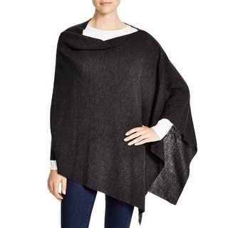 Eileen Fisher Womens Poncho Sweater Merino Wool Asymmetric - o/s
