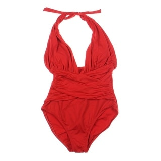 La Blanca Womens Drapey One-Piece Swimsuit
