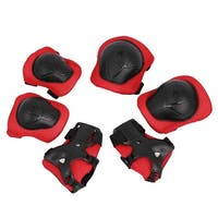 Unique Bargains Skating Cycling Sports Gear Wrist Support Guard Elbow Knee Pads Set for Children