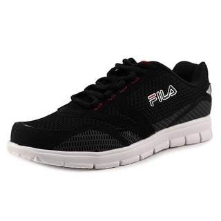 Fila Direction Men Round Toe Synthetic Black Running Shoe
