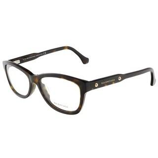Balenciaga BA4002/V 052 Dark Havana Oval prescription-eyewear-frames