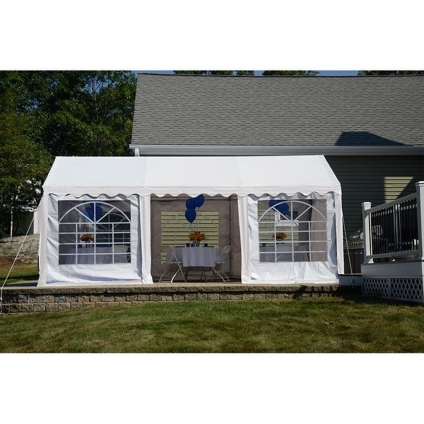 Shop Shelterlogic 10 X 20 White 8 Leg Galvanized Steel Frame Party