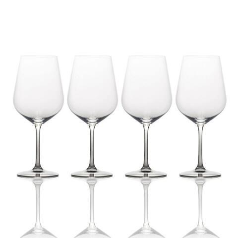 Mikasa Gianna Ombre Smoke 15.25 oz. White Wine Glass (Set of 4)