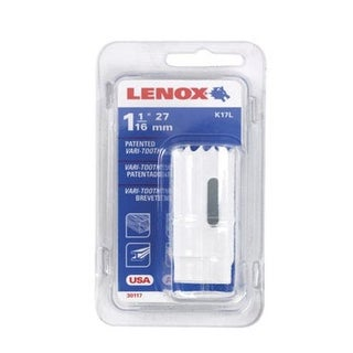 "Lenox 1771955 Bi-Metal Hole Saw, White, 1-1/16 "" Dia 1-1/2 "" Depth Cut"