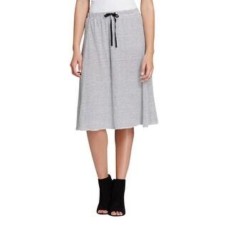 Eileen Fisher Womens Straight Skirt Linen Striped