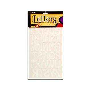 "SEI Iron On Art Transfer Letters Cool 1.5"" White"