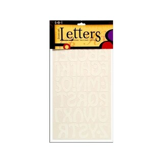 "SEI Iron On Art Transfer Letters Cool 1.5"" White"