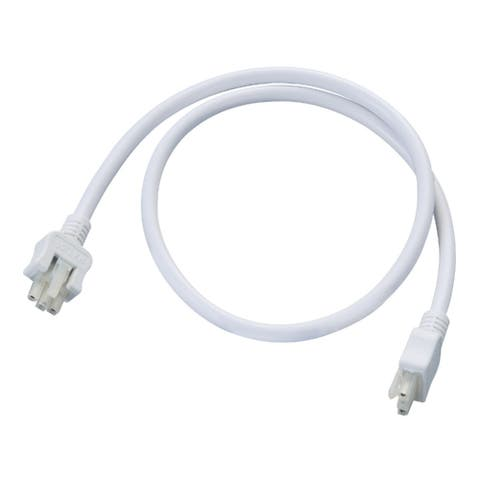 """Halo HU103 24"""" Daisy Chain Connector for Undercabinet Lighting - White"""