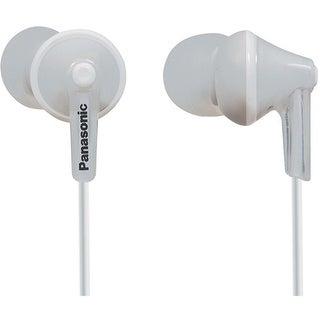 Panasonic ErgoFit In-Ear Earbuds Headphones Mic/Controller RP-TCM125-K (White)