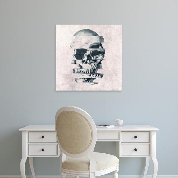 Easy Art Prints Ali Gulec's 'Glitch Skull' Premium Canvas Art
