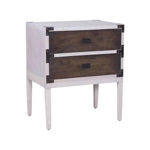 "GuildMaster 6417520 Furniture 25"" Wide Mahogany Nightstand - Grain De Bois Greige"