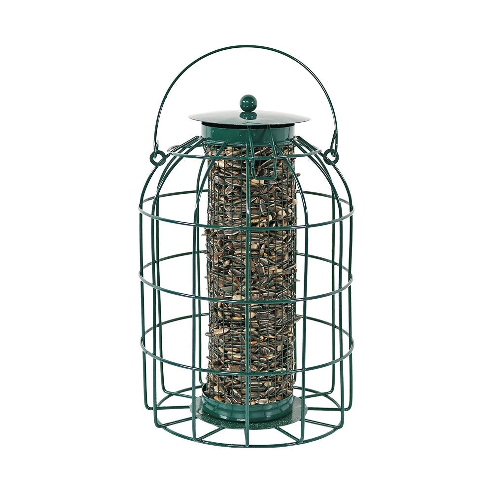 Sunnydaze Green Wire Squirrel-Proof Bird Feeder - Thumbnail 0