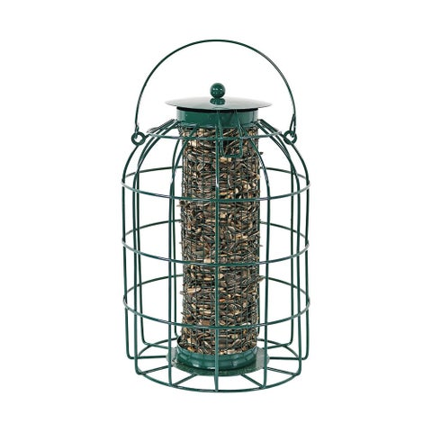 Sunnydaze Green Wire Squirrel-Proof Bird Feeder