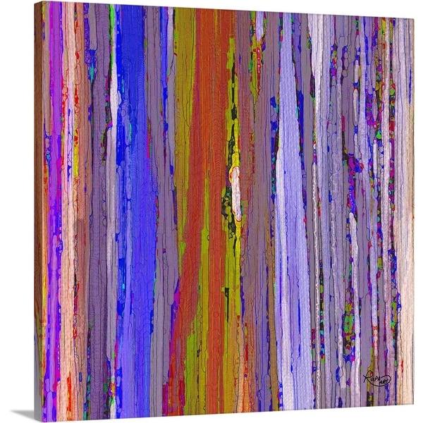 """Ties That Bind Purple"" Canvas Wall Art"