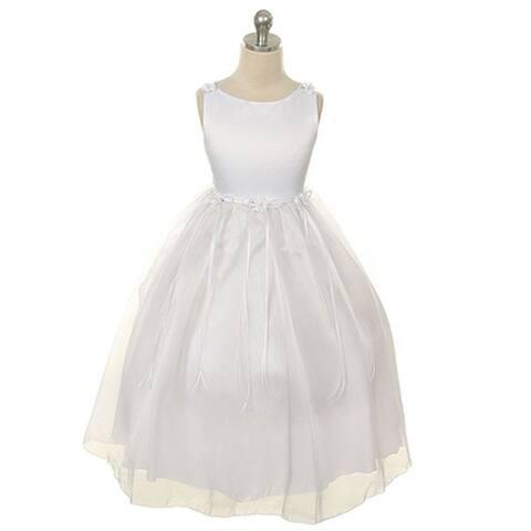 f9a6b5bac94 Kids Dream Little Girls White Rosebud Organza Flower Girl Dress 2-6