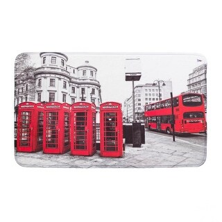 London Red Floor Mat