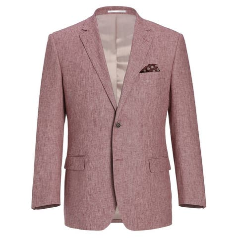 Men's Classic Fit Blazer Linen Cotton Sport Coat