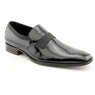 Calvin Klein Guilford Men Square Toe Patent Leather Black Loafer