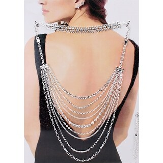 Multi function Party Back Jewelry - Silver