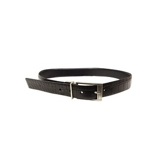 Calvin Klein Men's Snake Embossed Reversible Belt (30, Black) - 30