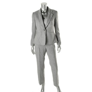 Tahari ASL Womens Petites Kenny Notch Collar Flat Front Pant Suit - 8P