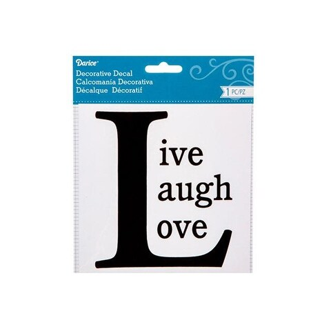 Darice Word Decal 6x6 Live Love Laugh