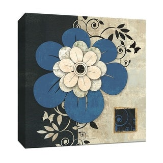 """PTM Images 9-152449  PTM Canvas Collection 12"""" x 12"""" - """"Flowers In Bloom I"""" Giclee Flowers Art Print on Canvas"""