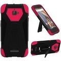 Insten Hard PC/ Silicone Dual Layer Hybrid Case Cover with Stand For Coolpad Catalyst - Thumbnail 3