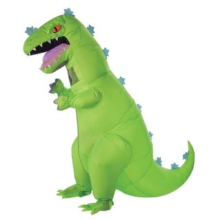 Adult Rugrats Inflatable Reptar Dinosaur Costume - Standard