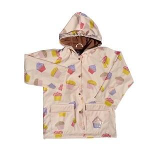 Girls Pink Cupcakes Galore Rain Coat 8-10
