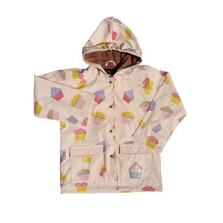 Little Girls Pink Cupcakes Galore Rain Coat 2T-6
