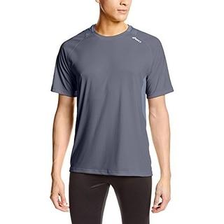 Asics Mens T-Shirt Mesh Inset Short Sleeves