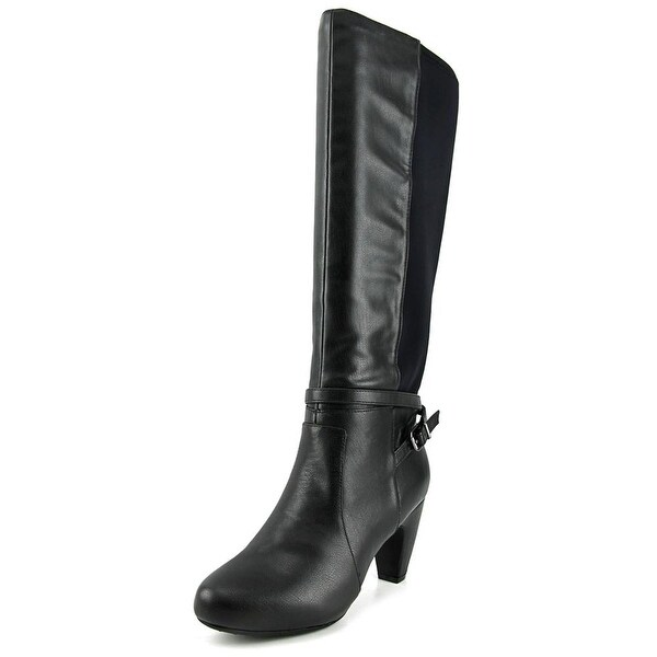 Easy Spirit Patrina Wide Calf Women  Round Toe Leather  Knee High Boot