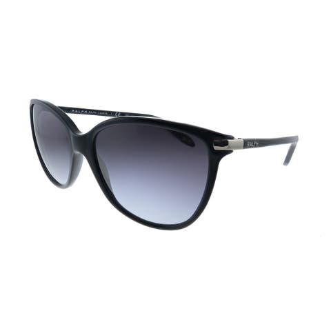 Ralph by Ralph Lauren RA 5160 501/11 Womens Shiny Black Frame Grey Gradient Lens Sunglasses