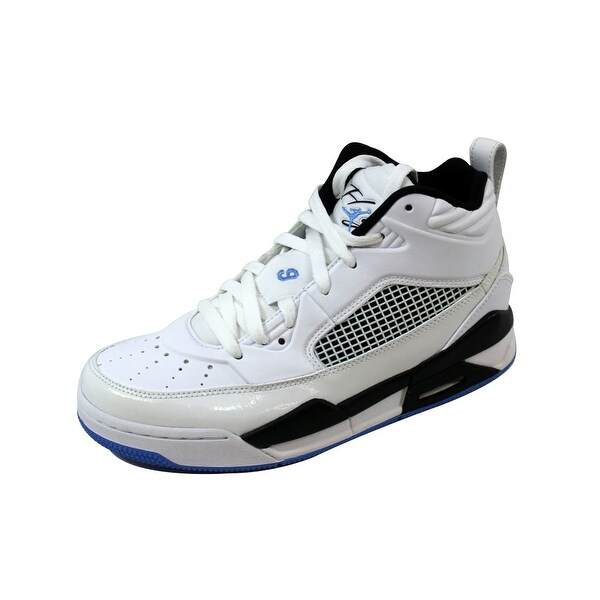 sale retailer 696df d4f4f Nike Grade-School Air Jordan Flight 9.5 BG White Legend Blue-Black 654975