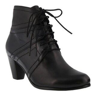 Spring Step Women's Hilde Bootie Black Multi Glove Leather