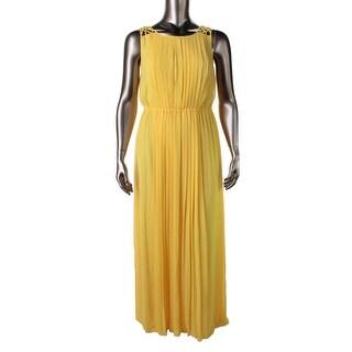 Jessica Simpson Womens Chiffon Sleeveless Maxi Dress - 10