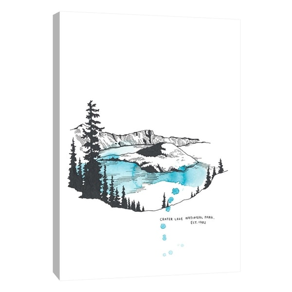 "PTM Images 9-105646 PTM Canvas Collection 10"" x 8"" - ""Nation Park Crater Lake"" Giclee Abstract Art Print on Canvas"