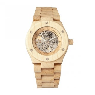 Earth Wood Grand Mesa Unisex Automatic Watch, Wood Band, Luminous Hands