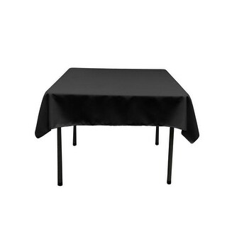 TCpop52x52-BlackP24 Polyester Poplin Square Tablecloth, Black -